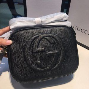 Authentic🌷Gucci🌷Soho Black Bag Disco with Insert Shoulder bag Crossbody bag
